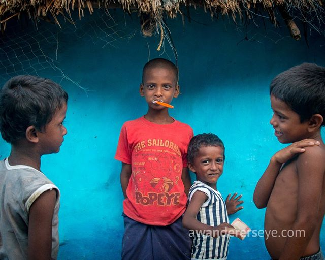 Morning in a fishing village in Jaganath Puri, Odisha. Kids smile and play while adults pass by poker faced heading to and from the daily fishing expedition. Life is very basic on the margins of this temple town and there is a weariness that hangs low like a monsoon cloud. Still there are smiles when I visit homes and say hello. Still there is innocence and magic and silliness. Thank you for letting me wander in your village.