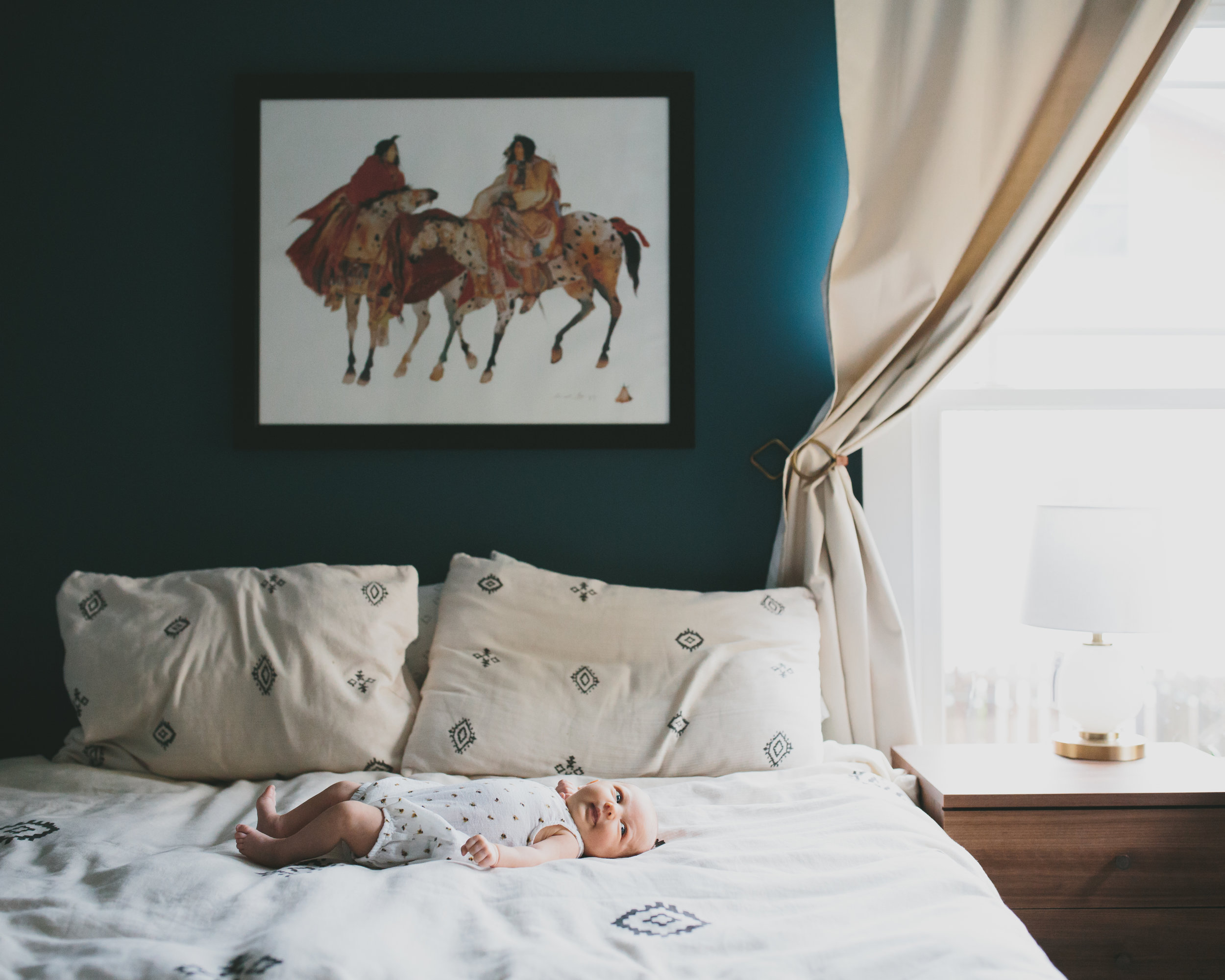 midcentury modern home decor | newborn photographer | Durham, NC | Merritt Chesson Photography