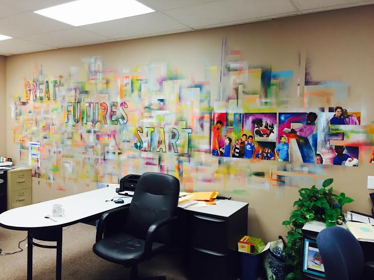 Mural located inside BGCCI office space created by former Club staff