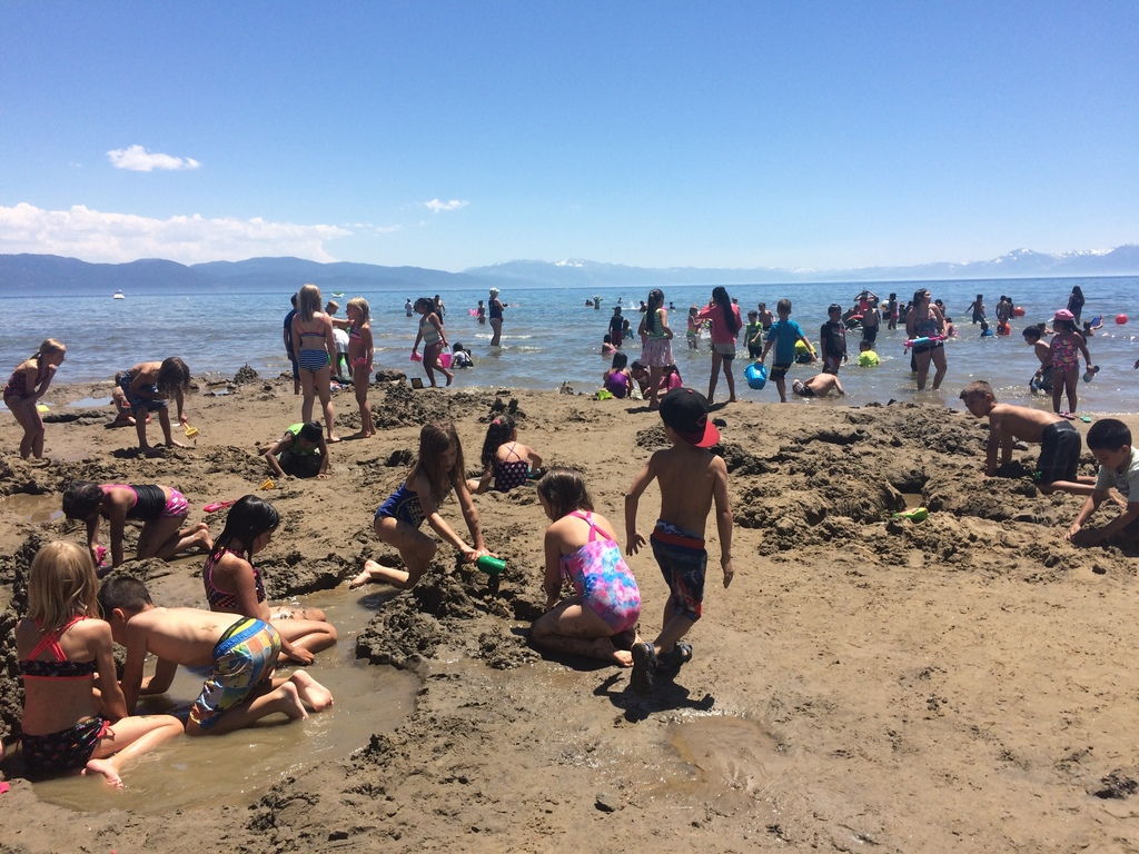 Weekly beach trips to Lake Tahoe's shores