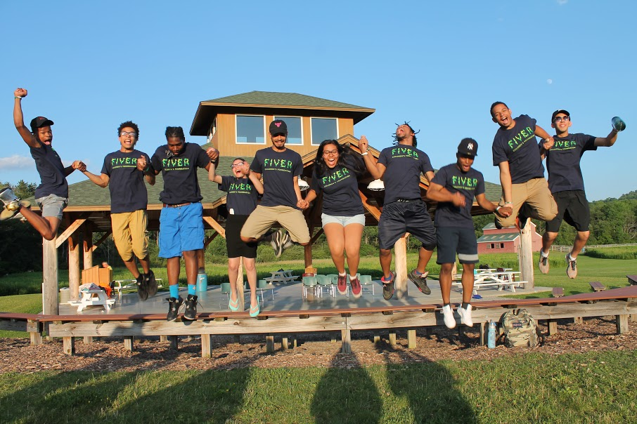 """""""These Fivers completed their 10 year journey with Fiver and are ready to take on the world. A plus is many of the Fivers in this photo were my first campers as a counselor two years ago so I was able to see them grow over the past two years and graduate the program this year!"""" Photo credit: Casie Keegan"""