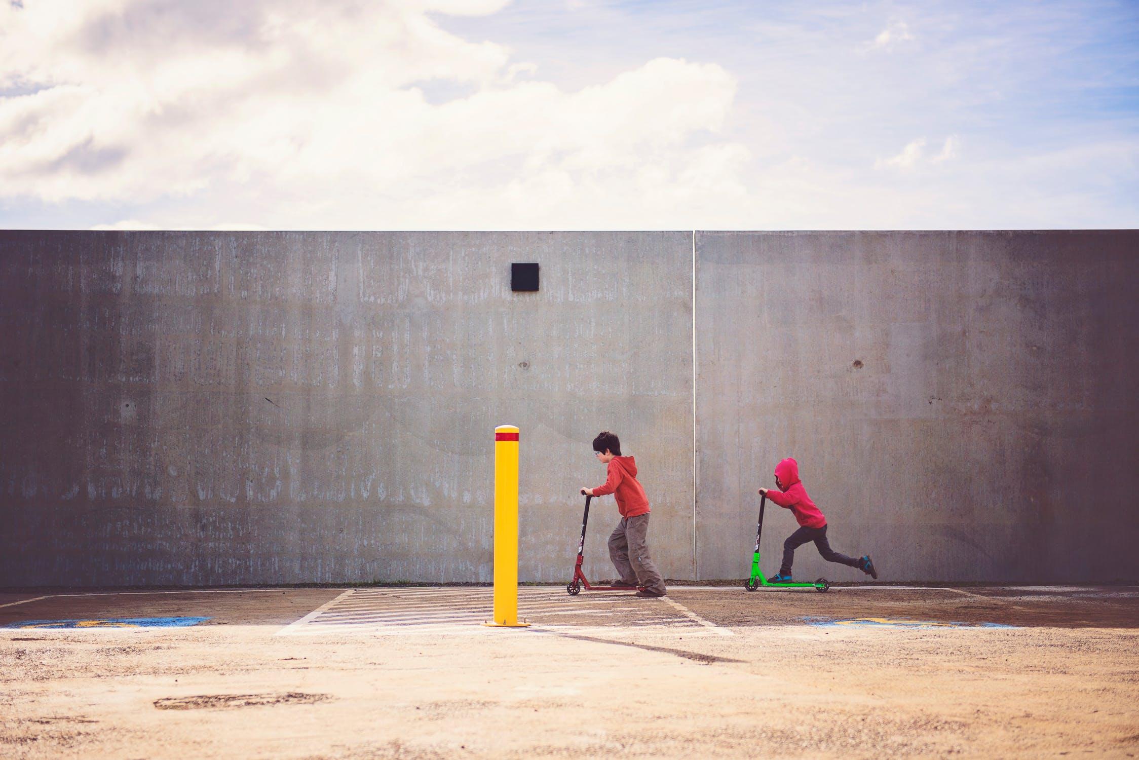Children playing, taken from  Pexels