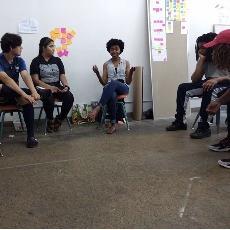 Dakari facilitating an inclusivity training.