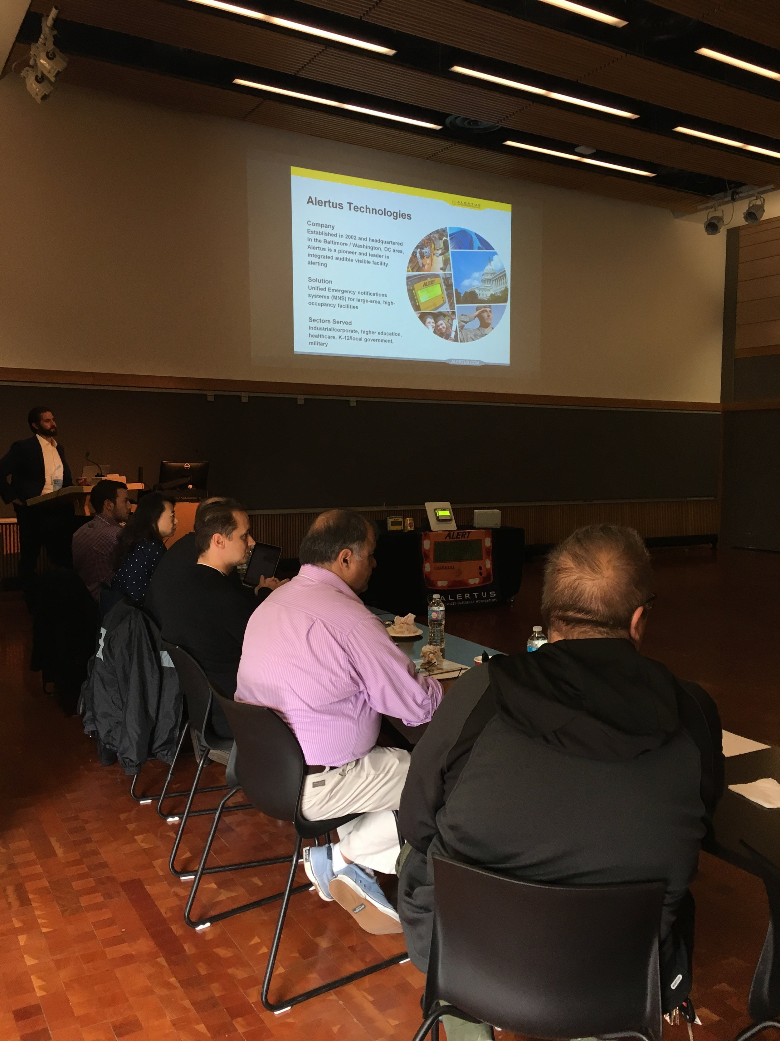 Attendees at the Alertus Emergency Preparedness Seminar at KPU during a Q&A session
