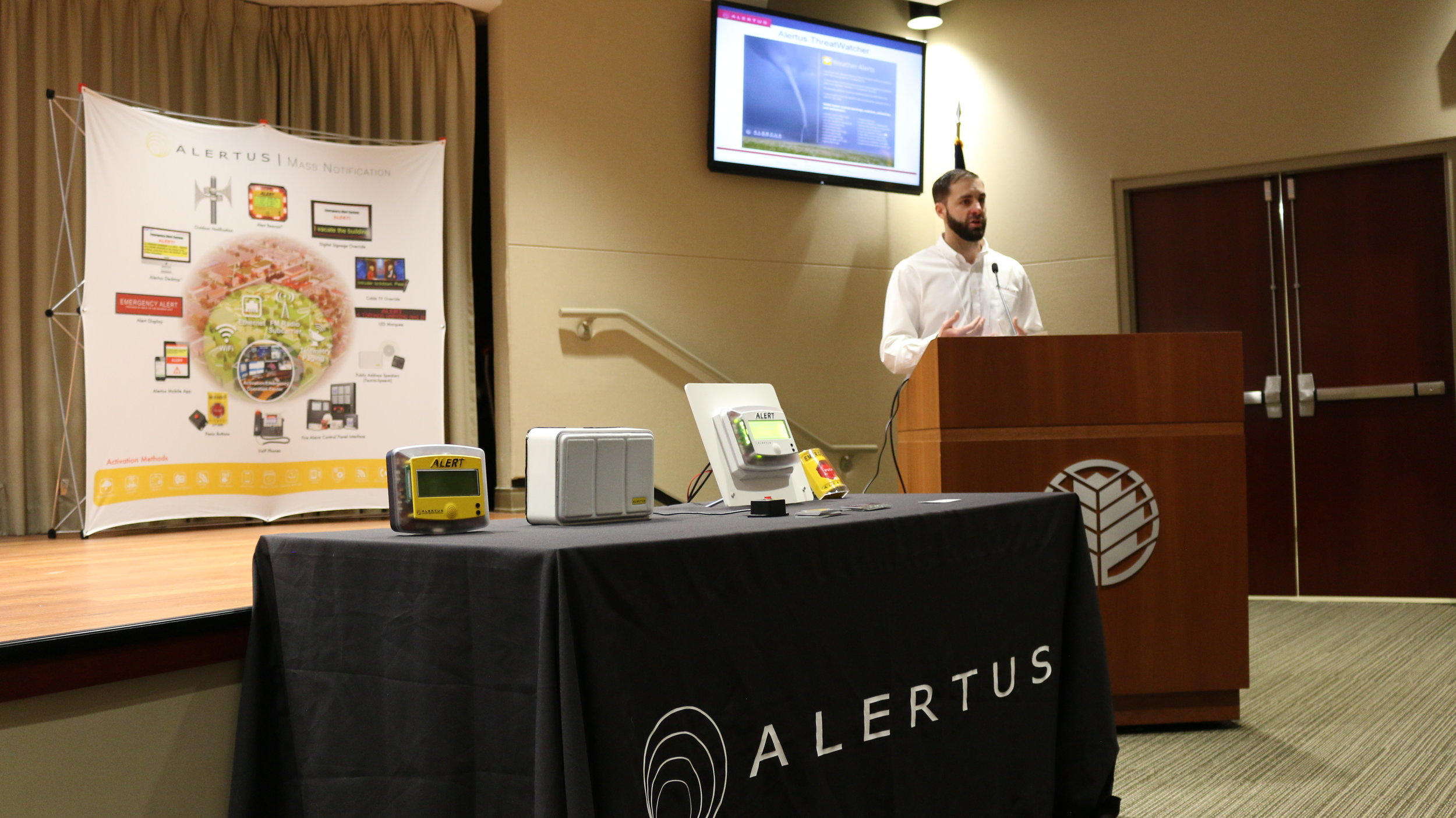 John Robling, Regional Sales Manager for Alertus Technologies