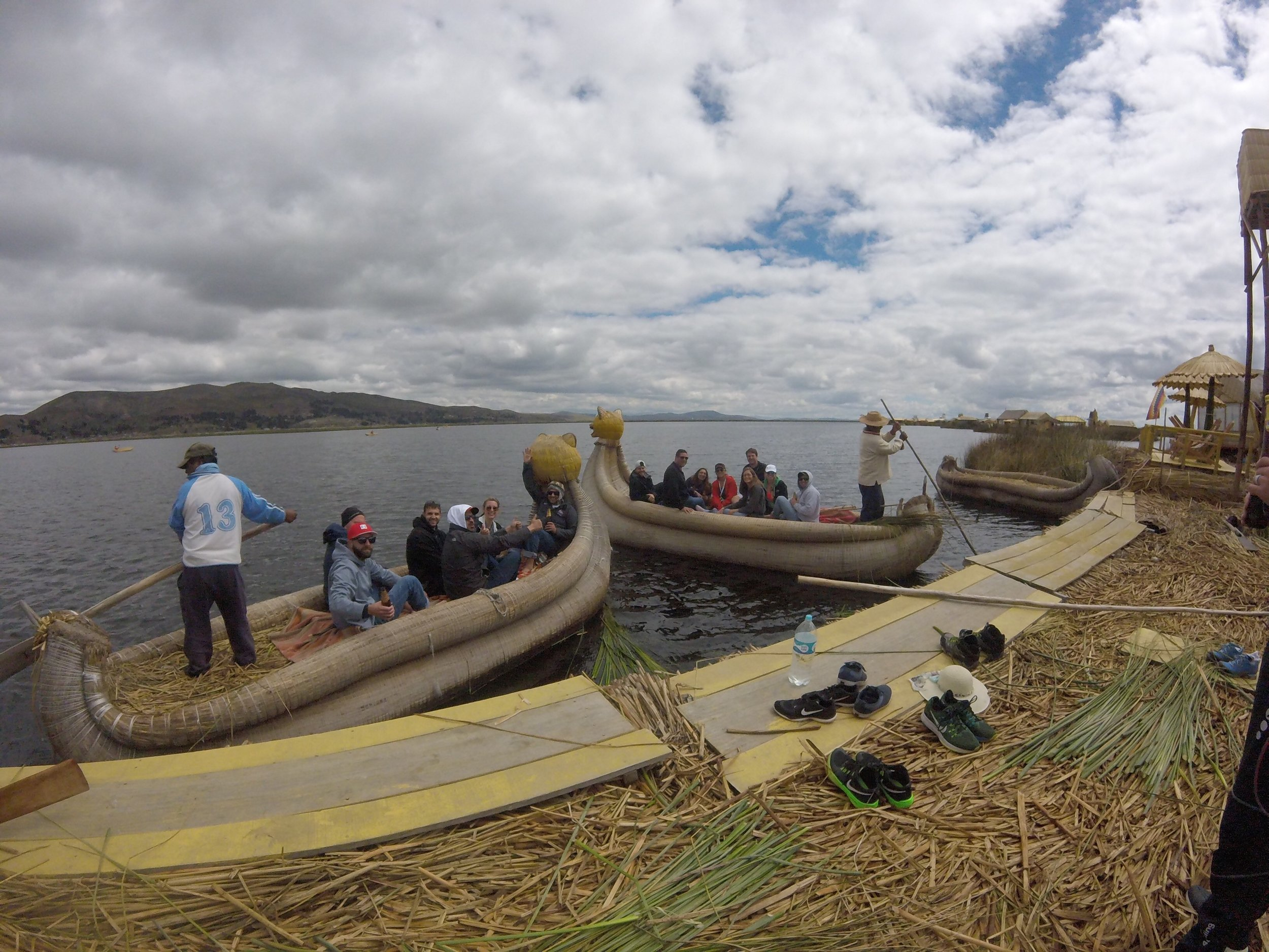 Bon voyage! We're off to explore Lake Titicaca.