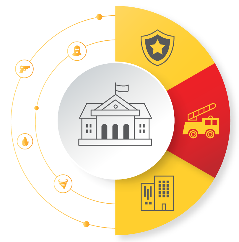 Alertus provides a number of solutions that allow individual schools to communicate with the district office, local police, and fire stations.