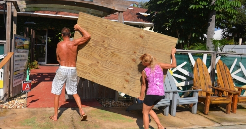 People were preparing for Hurricane Irma days in advance.