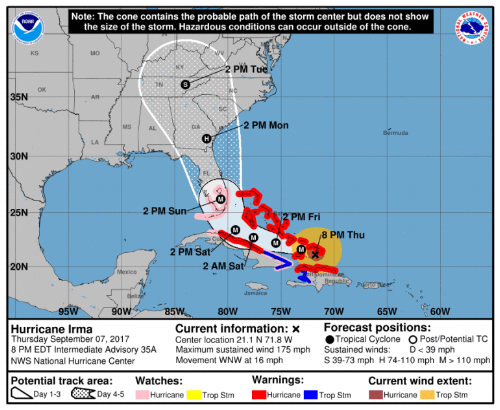 Timely storm track updates are key for any organization preparing for a hurricane.