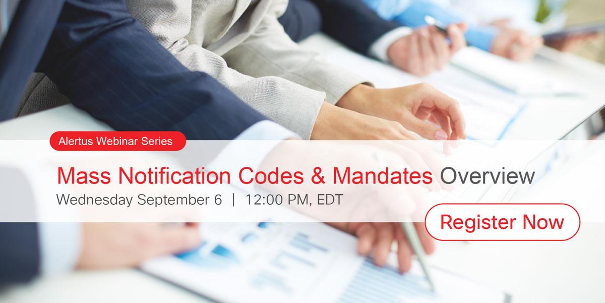 Mass Notification Codes & Mandates