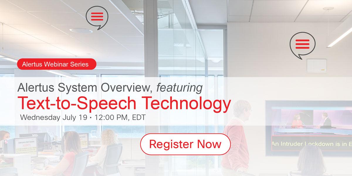Alertus Text-to-Speech Technology