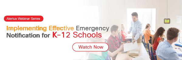 webinar on emergency notification for k-12 schools