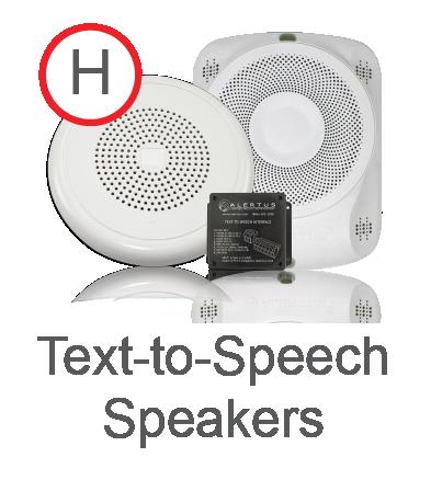 Text-to-Speech emergency Speakers