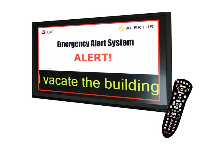 Cable TV Override alert screen