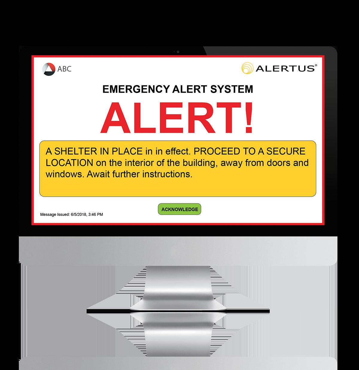 Alertus Desktop Notification