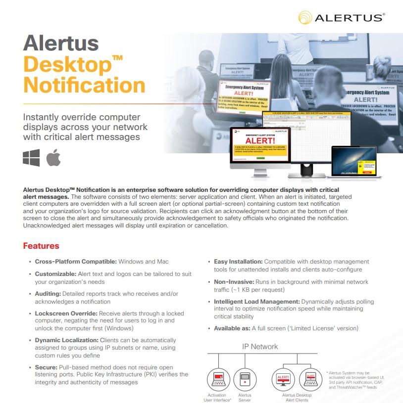 Desktop Notification — Alertus Technologies