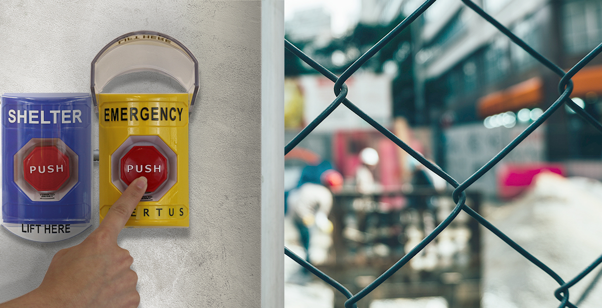 Immediate, easy, one-step emergency notice activation