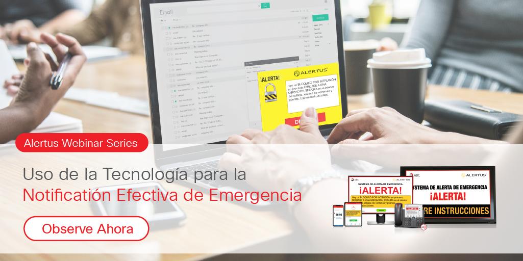 Uso de la Tecnología para la Notificación de Emergencia Efectiva