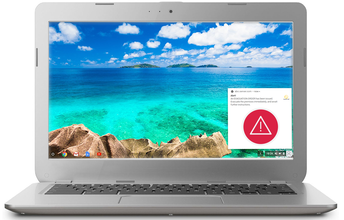 Alertus Chromebook Notification