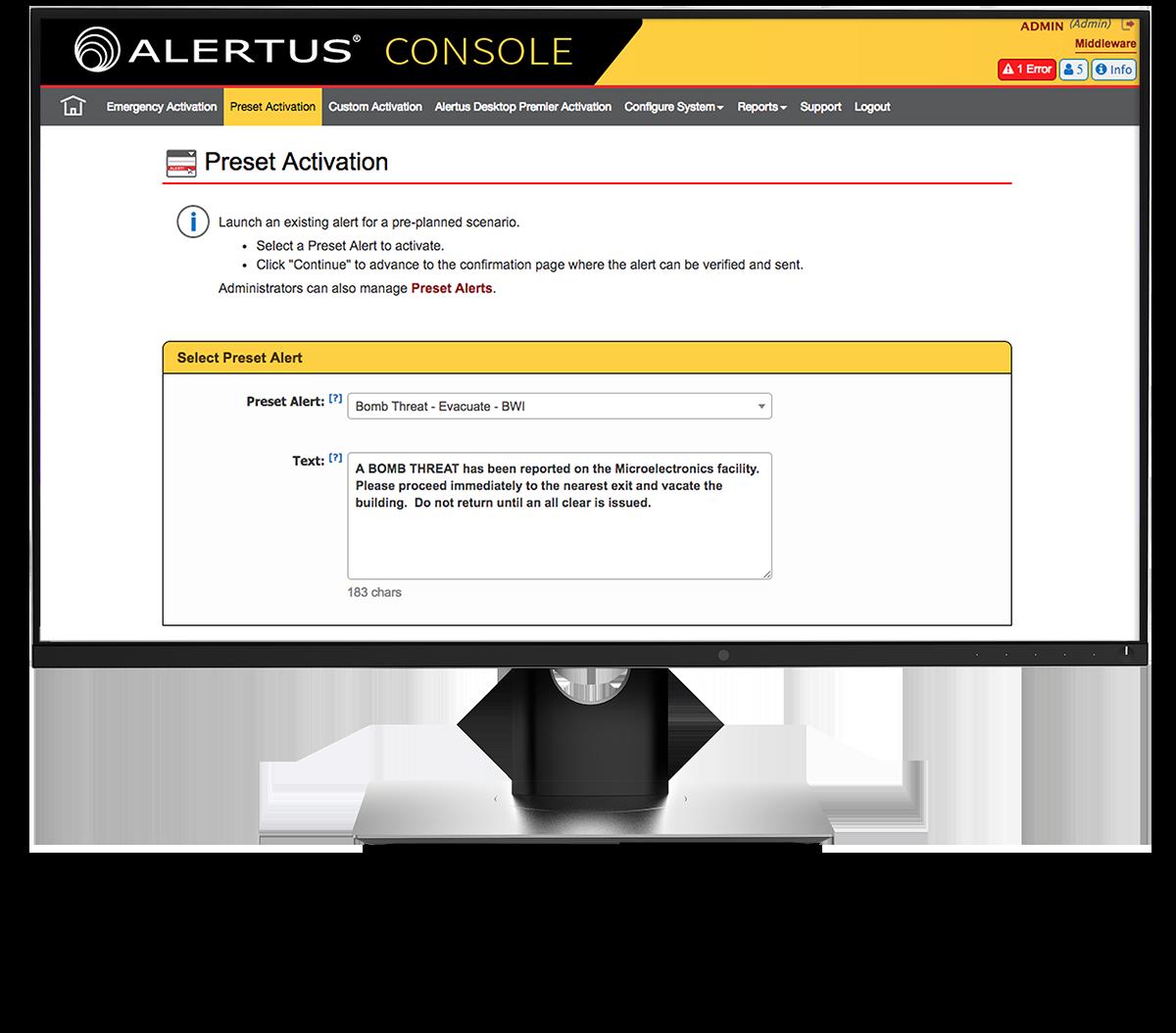 Alertus Console