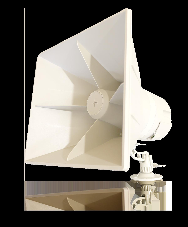 Indoor/Outdoor Self-Amplified Horn