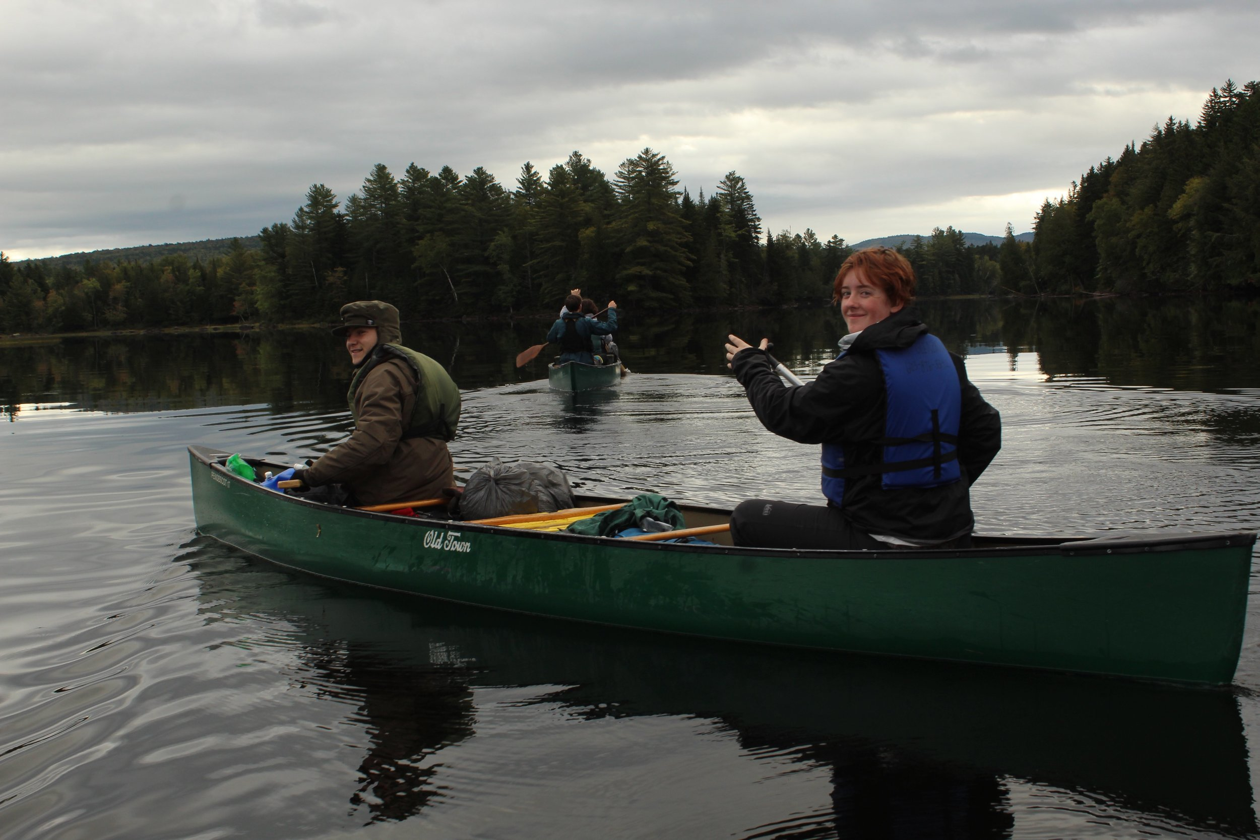 Paddling on Umbagog Lake, on the New Hampshire side before crossing into Maine.