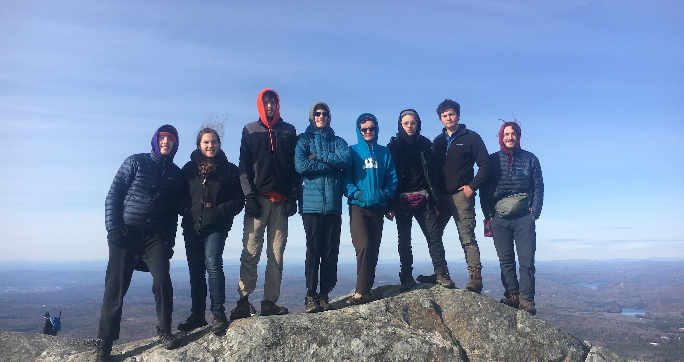 The F18 gap cohort atop Mt. Monadnock, after hiking to the summit from the door of their house.