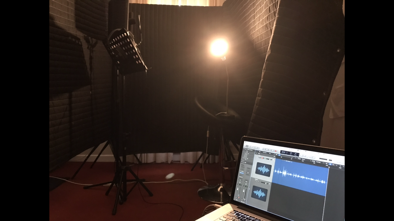 Recording Voice Over in Salthill, November, 2018