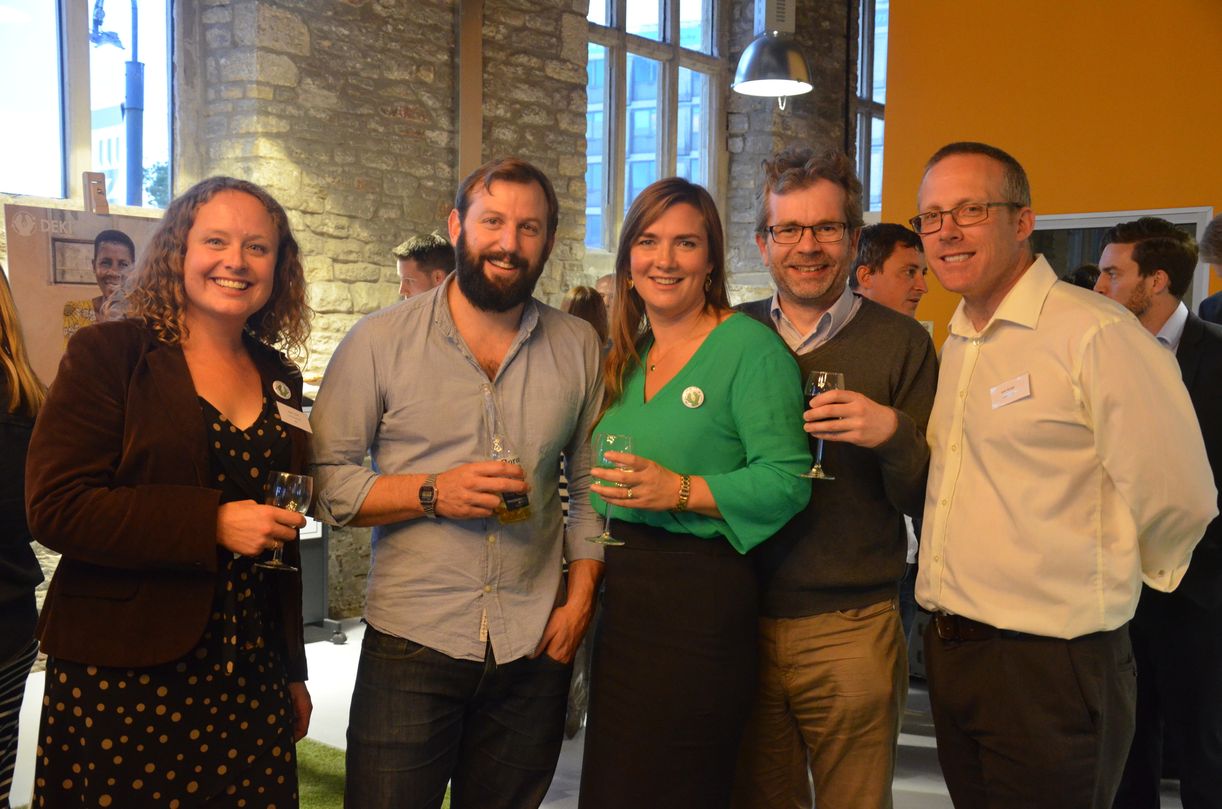 Dawn Heuff (Deki Fundraising Director), Tristan Hogg (Co-Founder Pieminister), Vasthti Seth (Deki Founder), Simon Face (Director, Institute of Directors), Nick Sturge (Director, Engine Shed) X 2.jpg