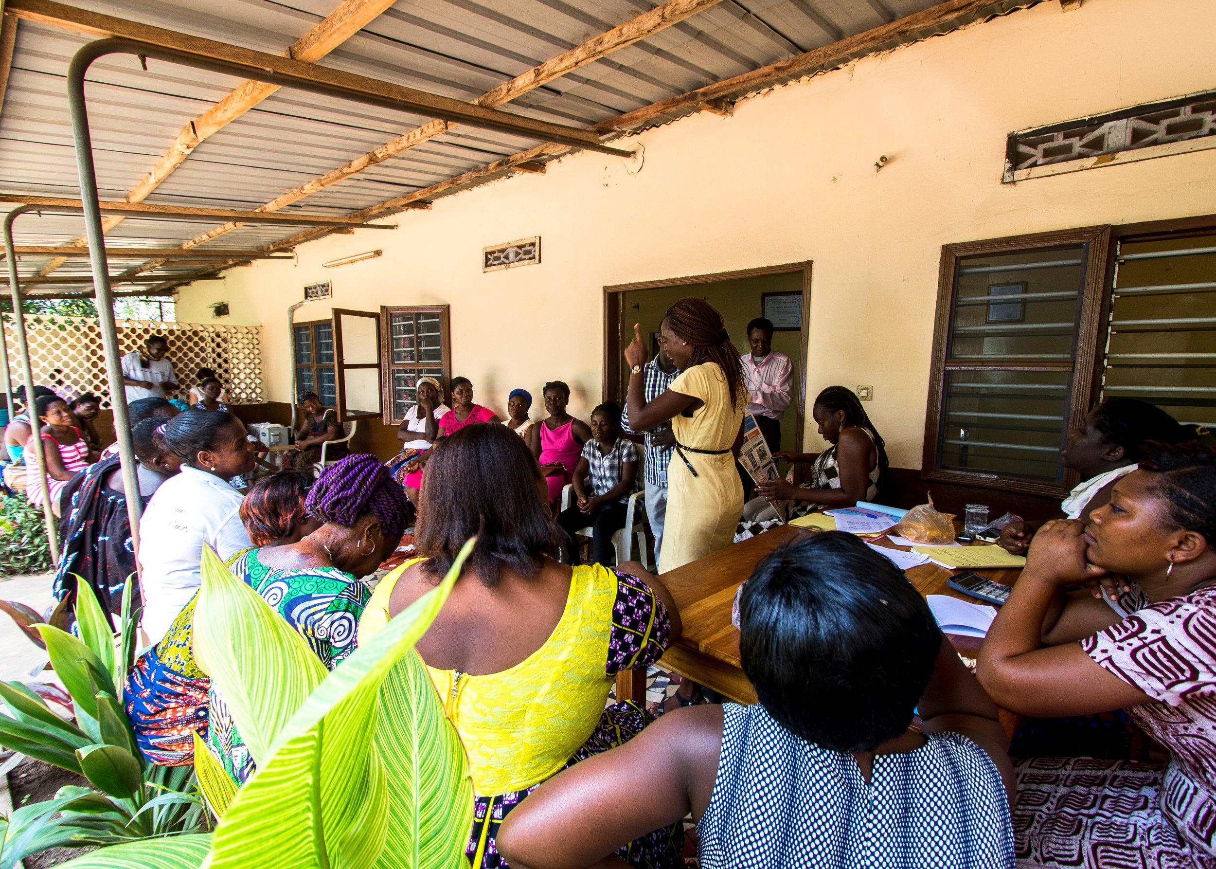 Training in progress in Lome, Togo