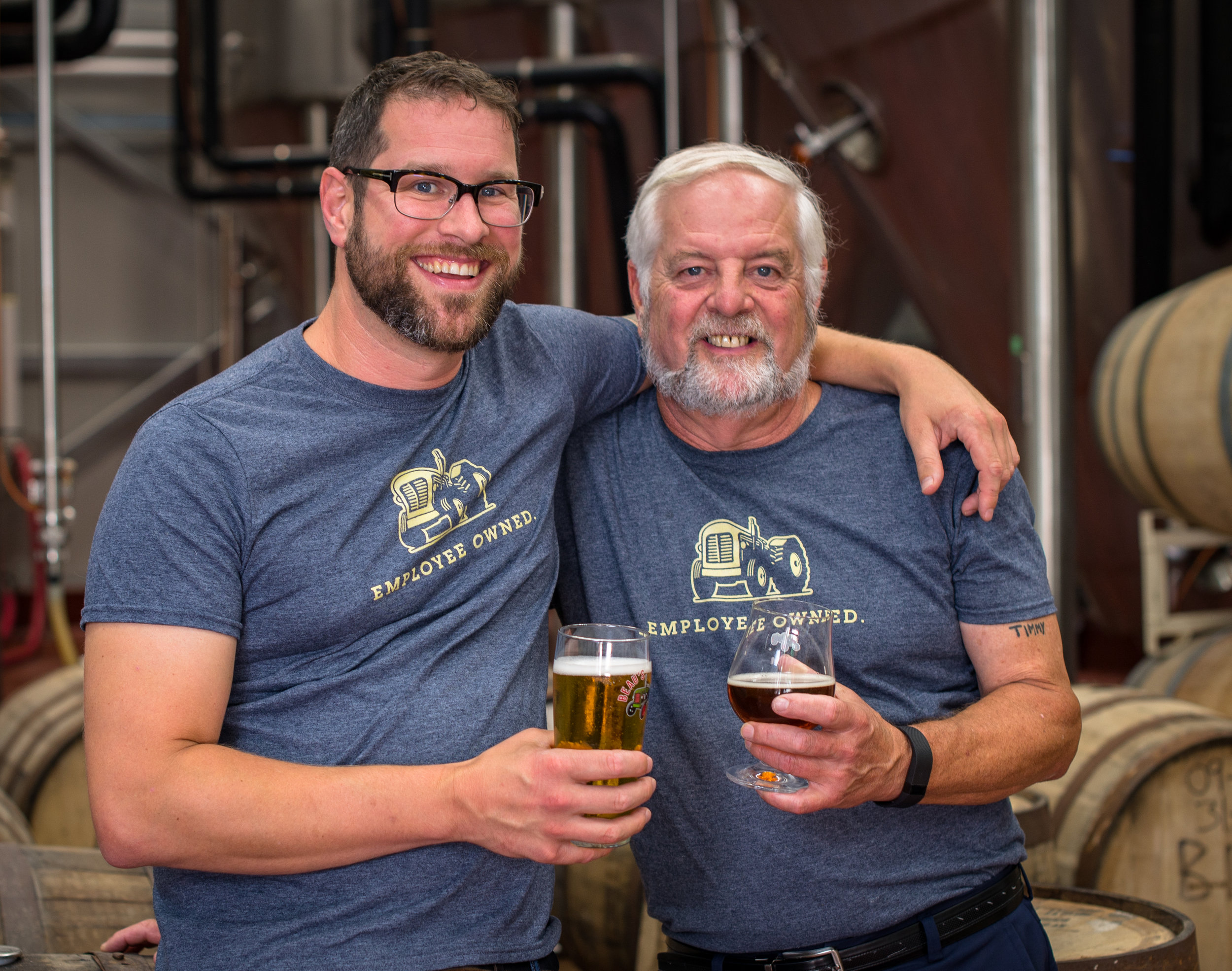 Co-Founders of Beau's Brewing Co., Steve and Tim Beauchesne