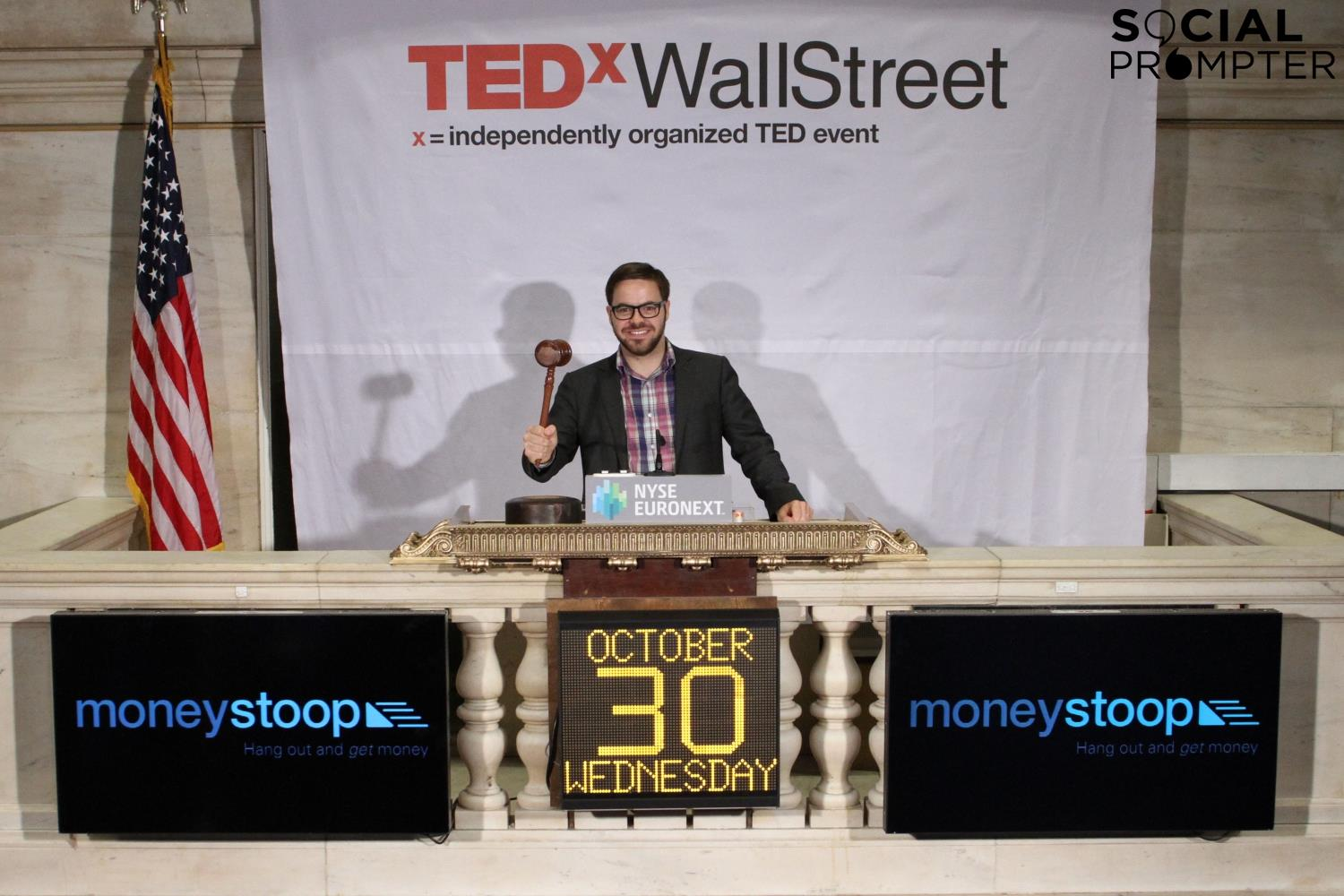 Dan ringing the bell at the New York Stock Exchange
