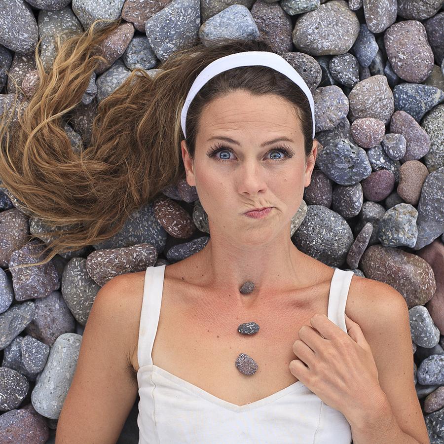 Photo by: J.R - Kit lying on rocks