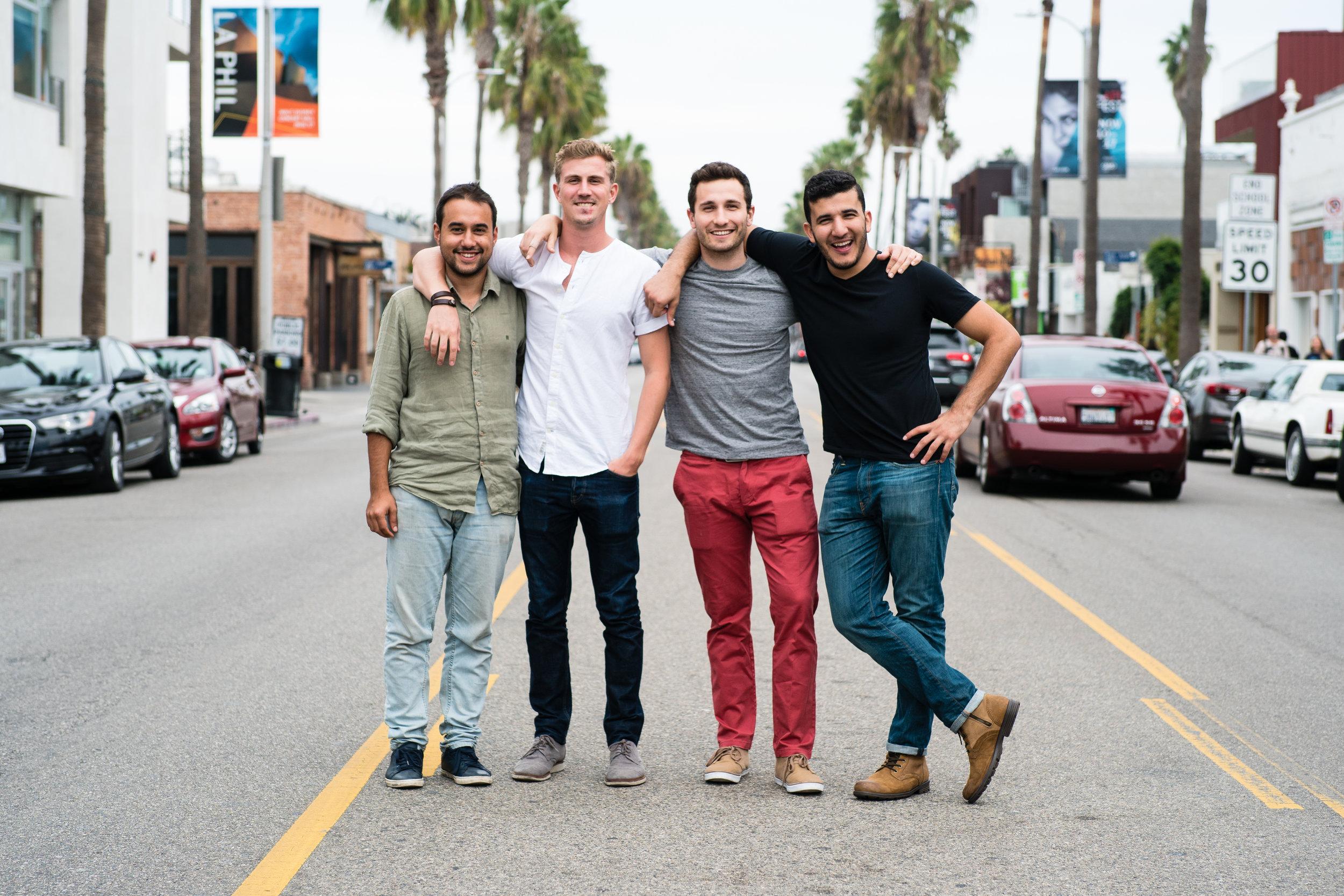 Yes Theory (L-R) - Derin, Thomas, Matt, Ammar