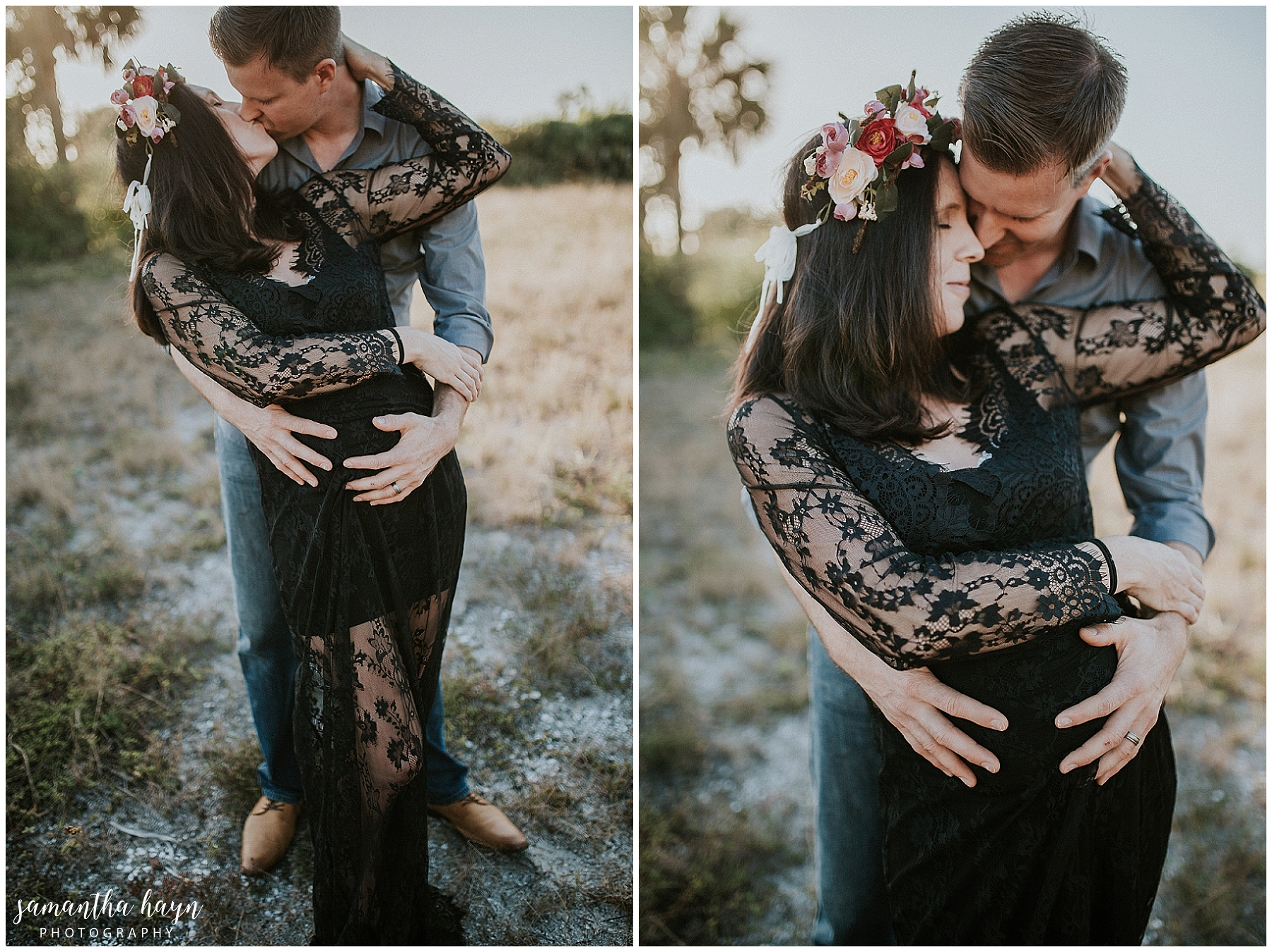 bohemian maternity session, fort desoto park, st pete fl