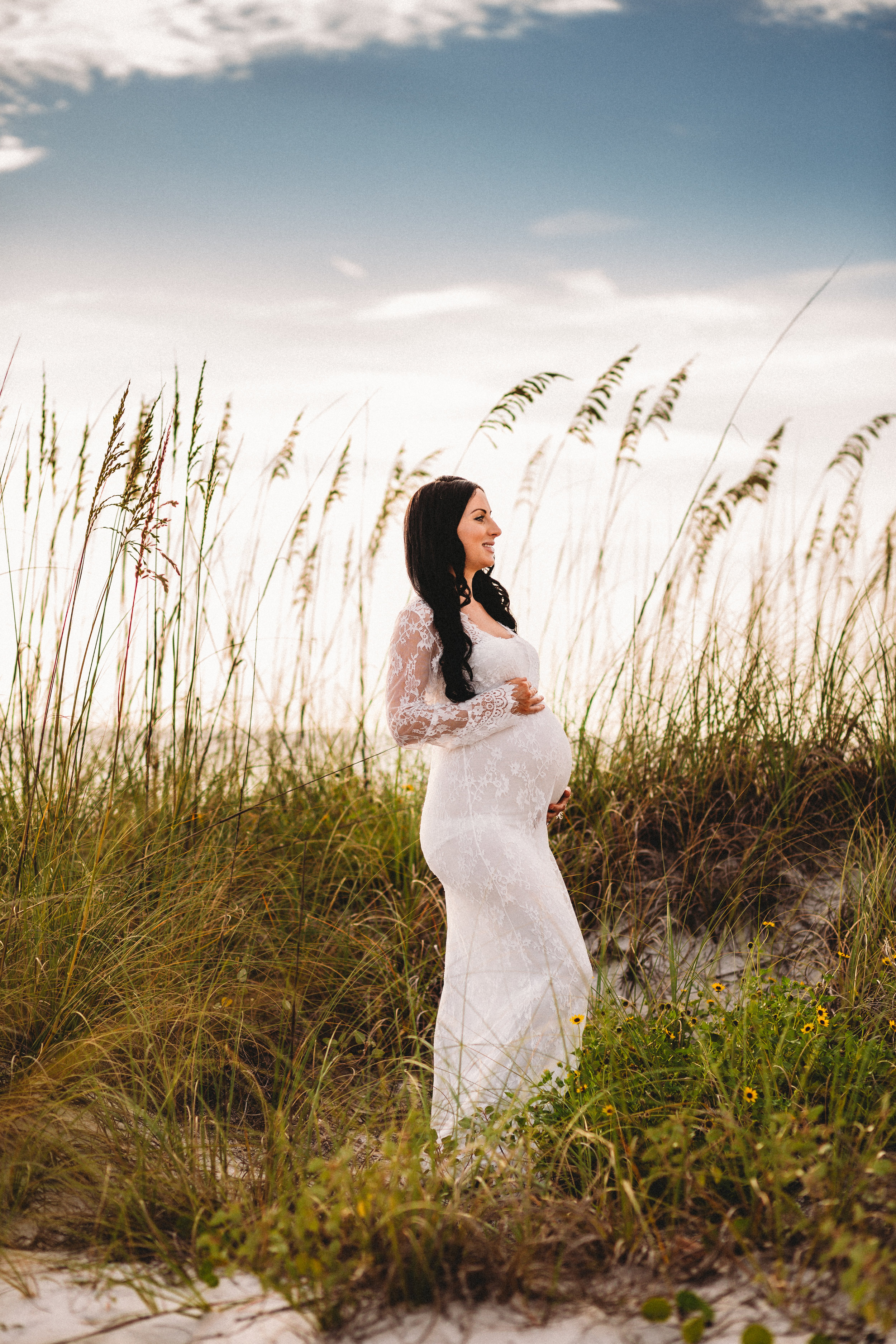 beach maternity pictures, boho momma, tampa fl