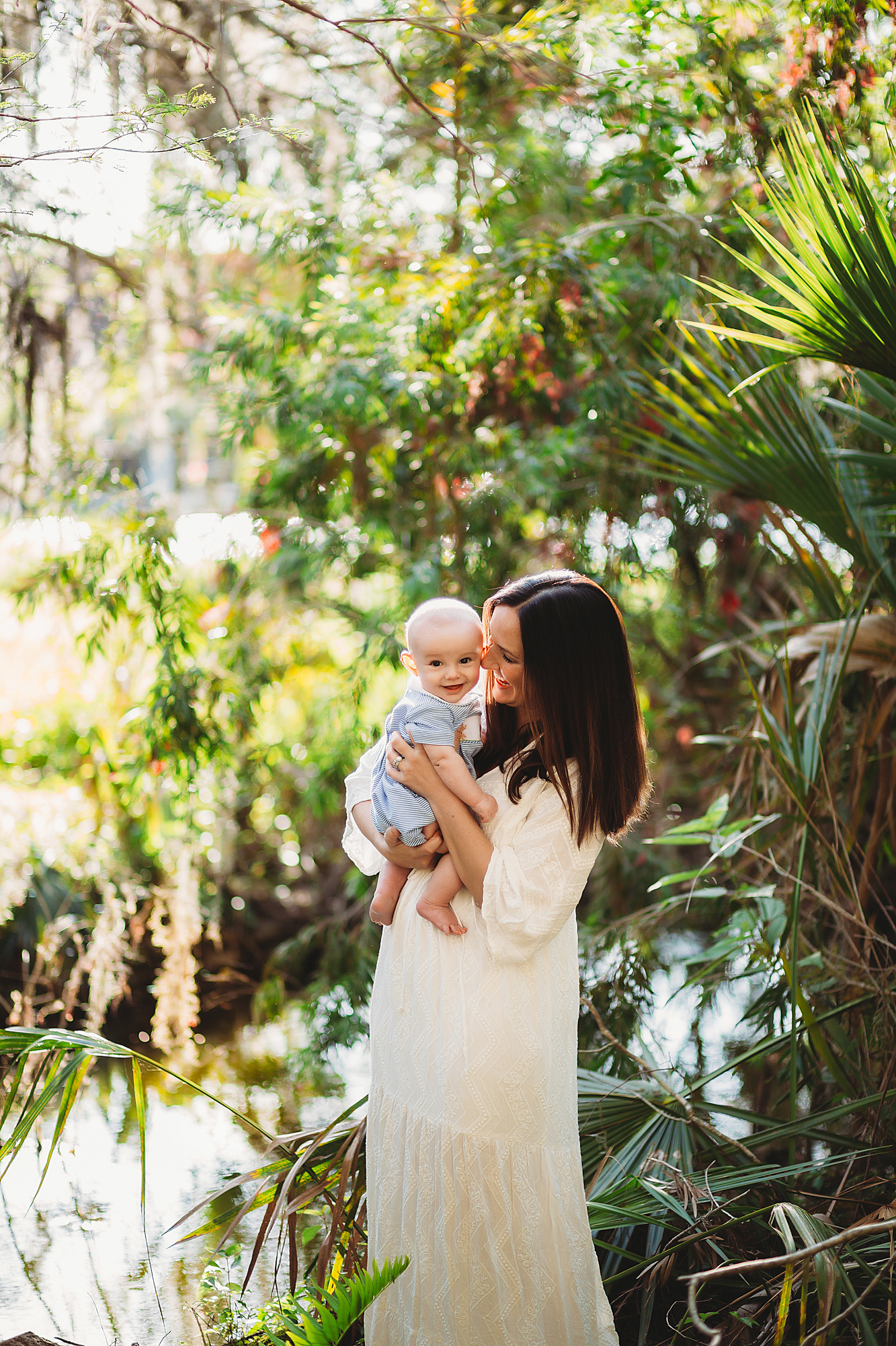 baby photography session, lake seminole park fl