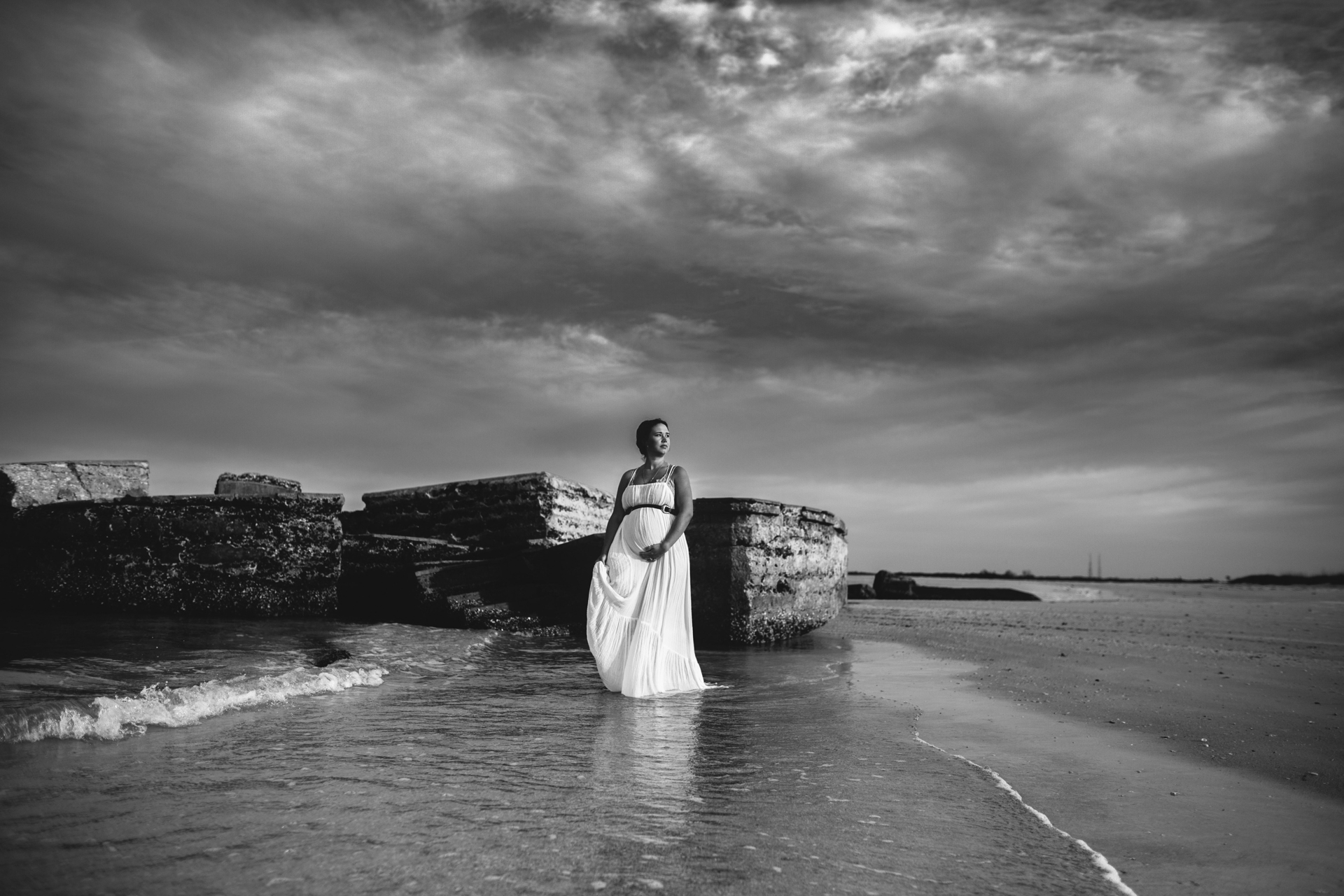 pregnancy photography beach, top maternity photographer of pinellas county fl