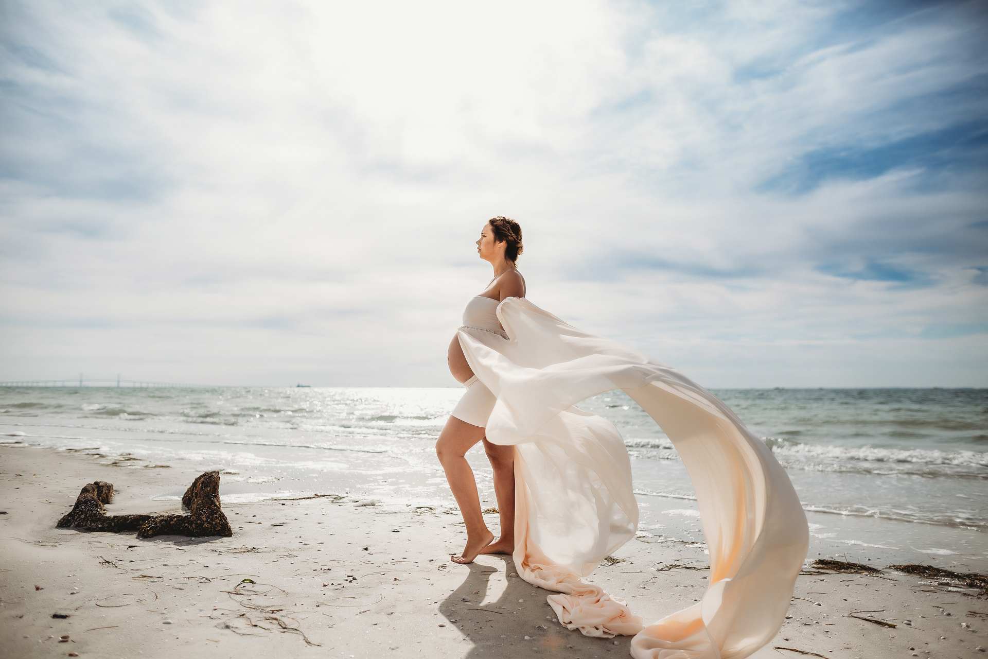 epic maternity photography, beach pregnancy photographer of tampa bay