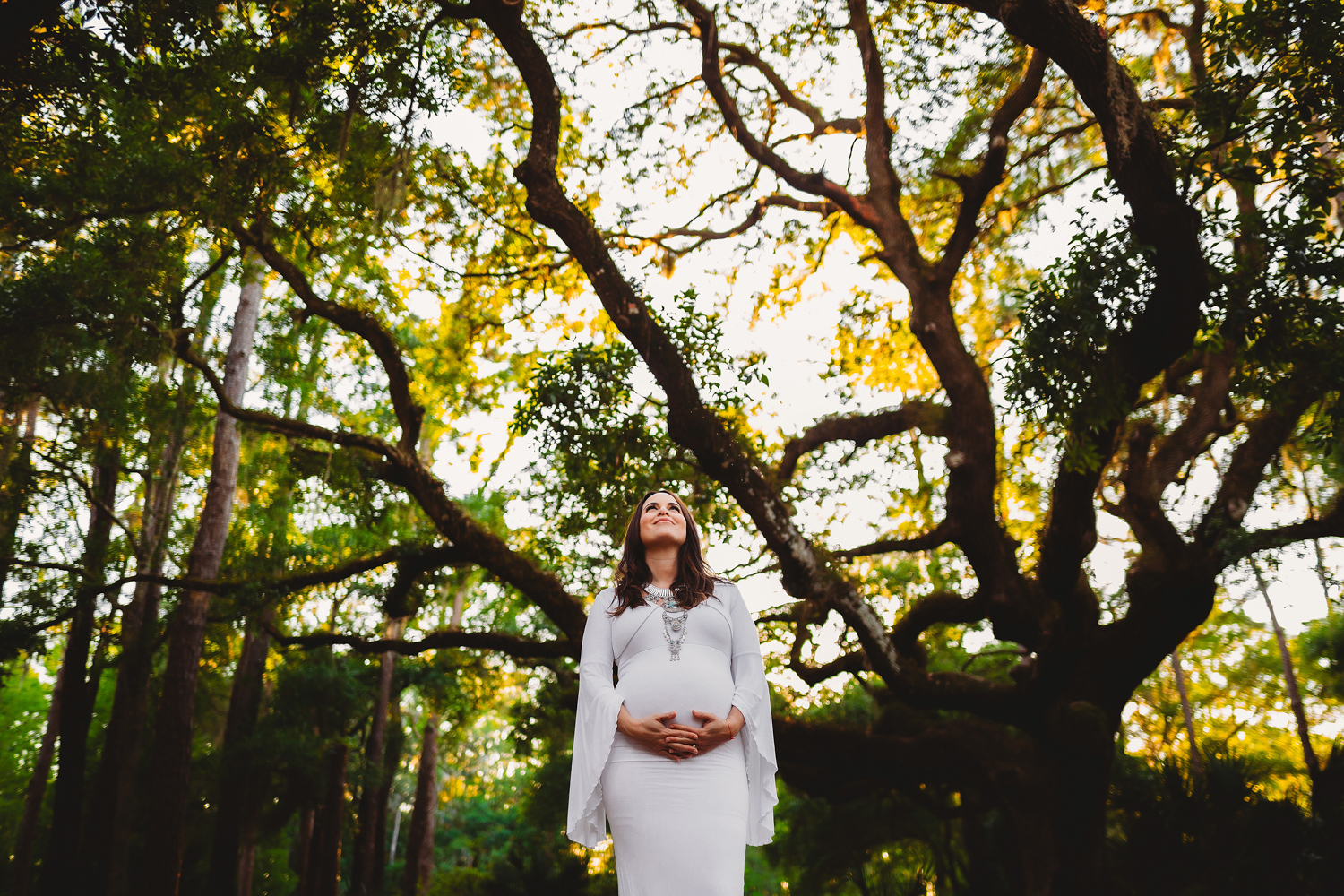 unique maternity portraits outside, st pete maternity and baby photographer