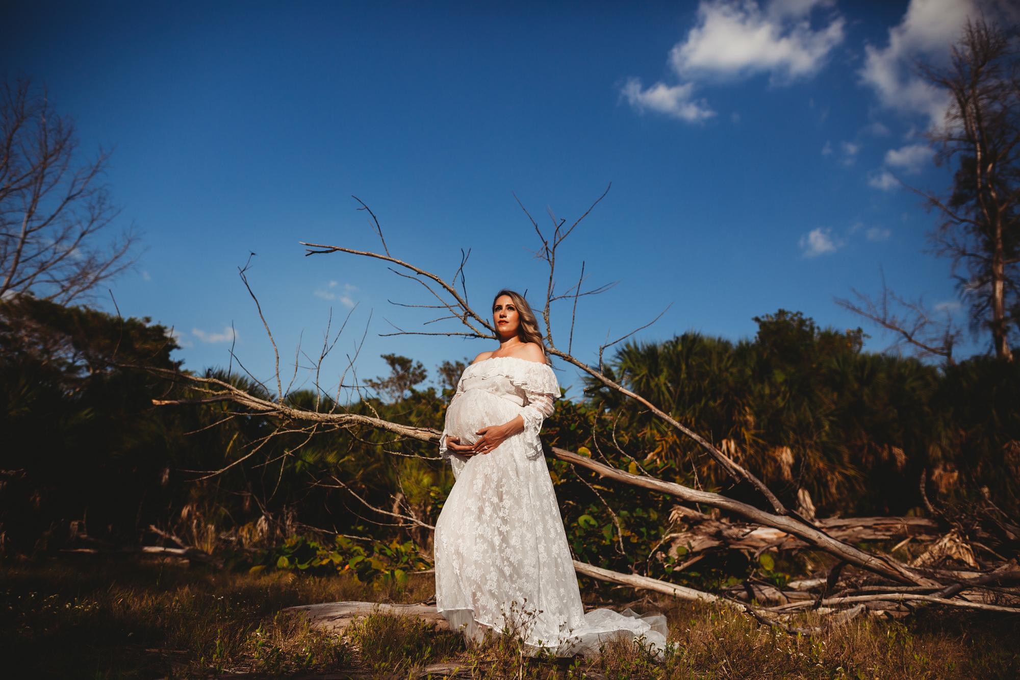 pinellas county fl maternity photo shoot outside