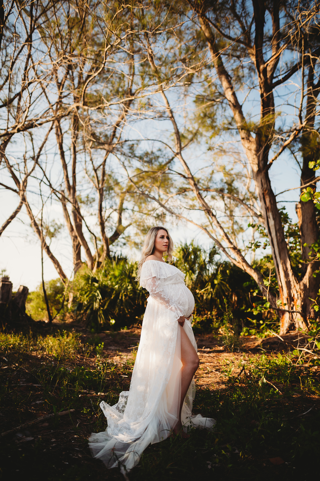 high end maternity photographer, saint petersburg fl baby bump photography
