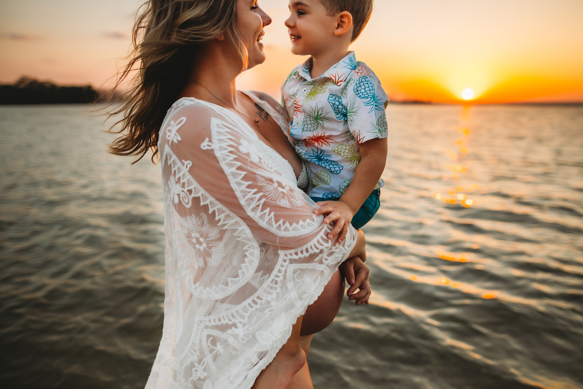 mother and son maternity portraits, pregnancy photos with kids st pete