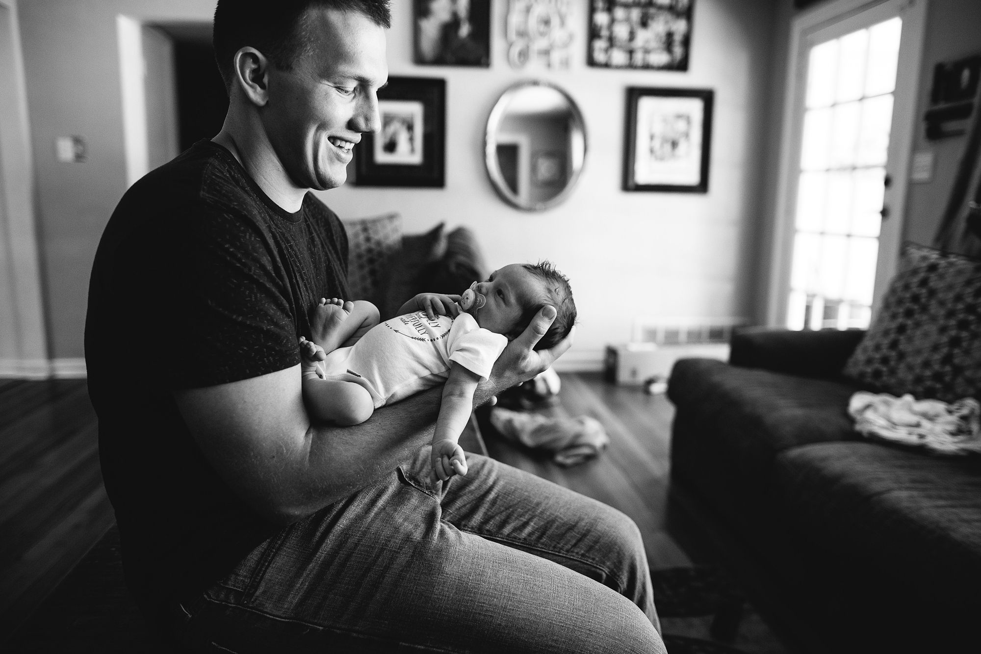 father and son newborn pictures, tampa bay baby photographer