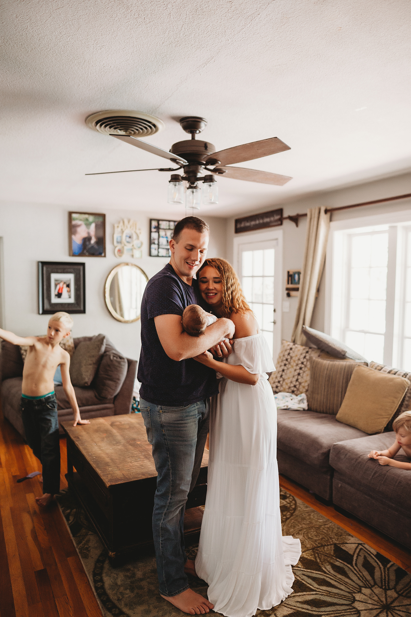 couples newborn photo shoot in home, pinellas county fine art lifefstyle photographer
