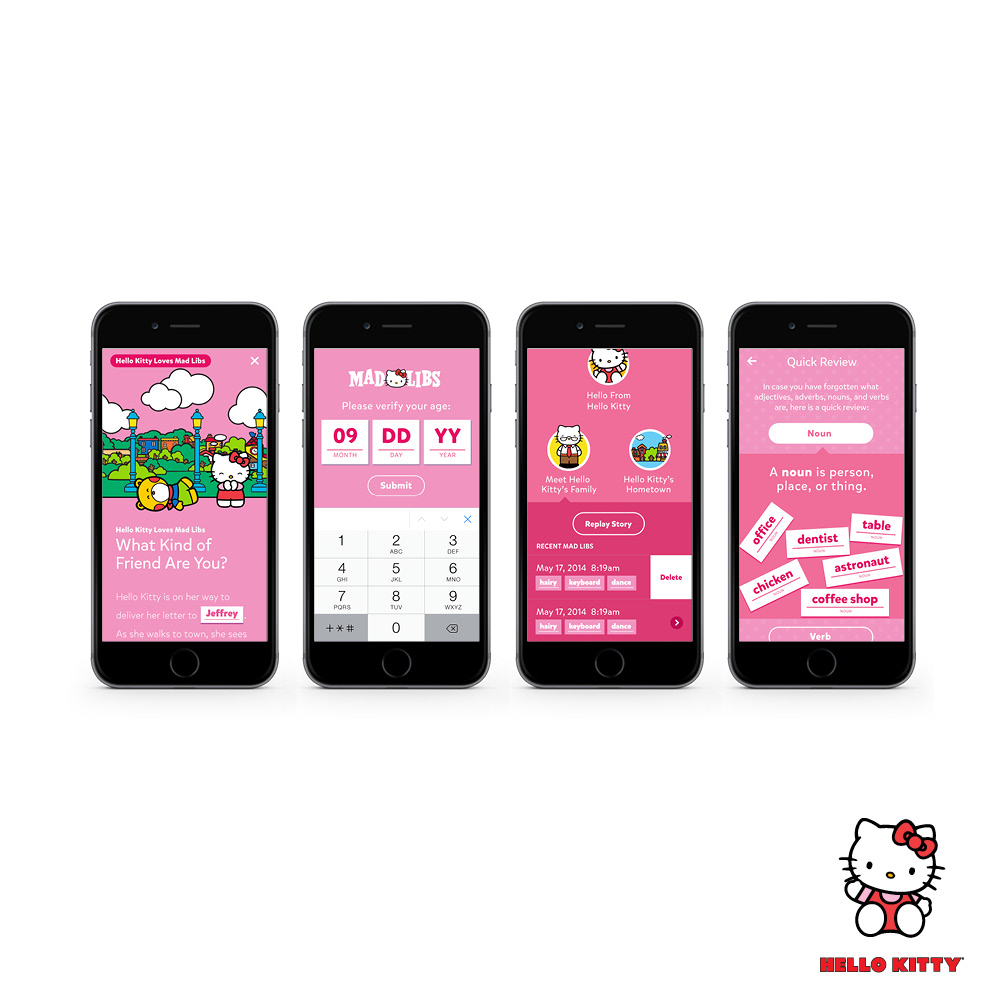 Hello Kitty MadLibs App