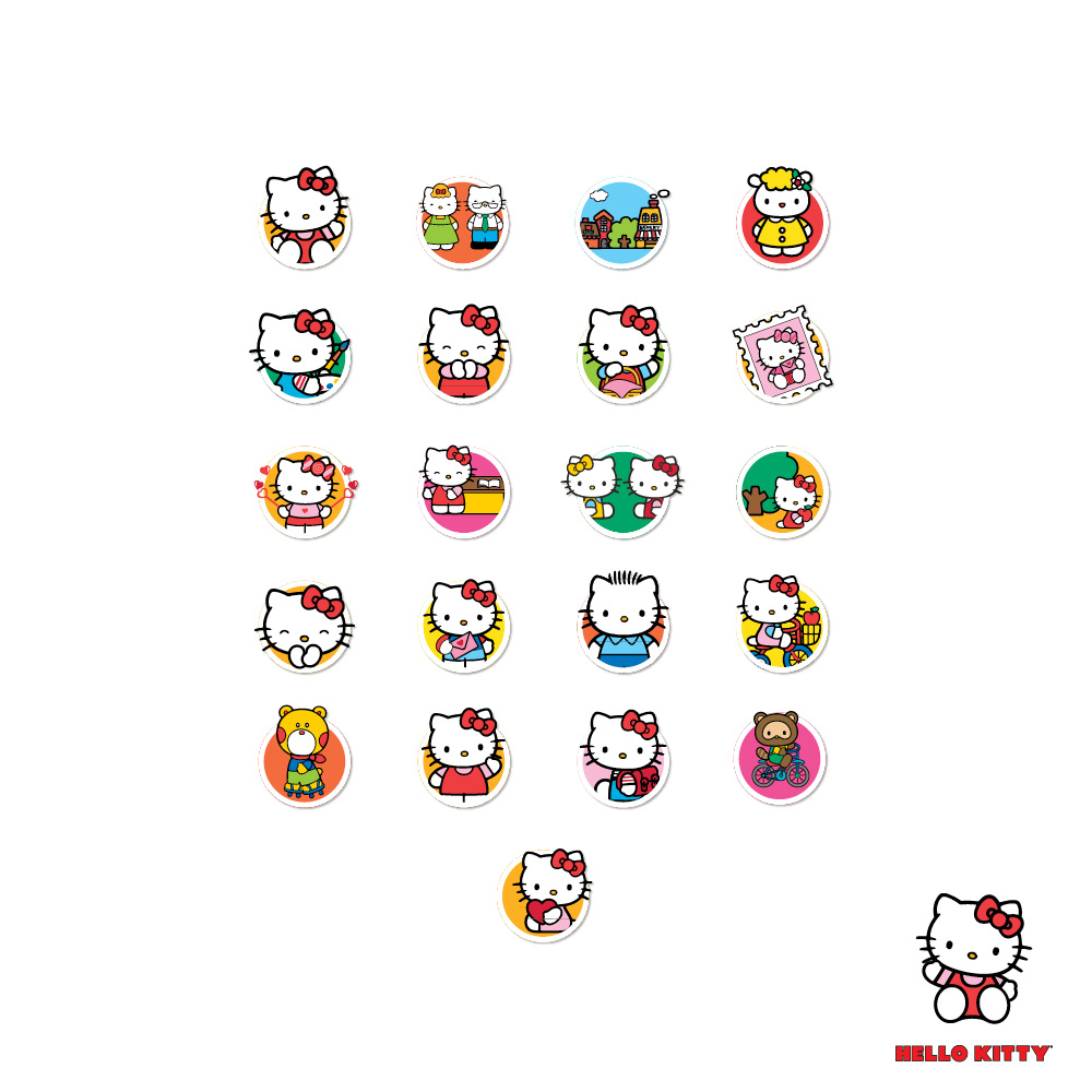 Hello Kitty Completed Story Stickers