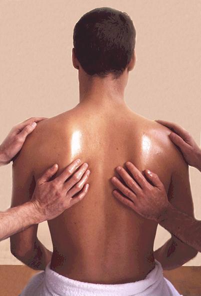 Ayurvedic massage male back
