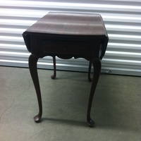 0101: Small Dark Wood Table with Folding Flaps