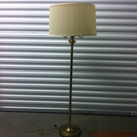 0118: Brass Lamp with White Shade